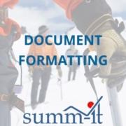 Document Formatting- summ-it Unternehmensberatung – B2B-Marketing & Business Development