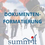 Dokumentenformatierung - summ-it Unternehmensberatung – B2B-Marketing & Business Development