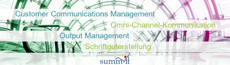 Forum Output Management - Konferenz: Den Wandel zum modernen Output Management gestalten - summ-it Unternehmensberatung