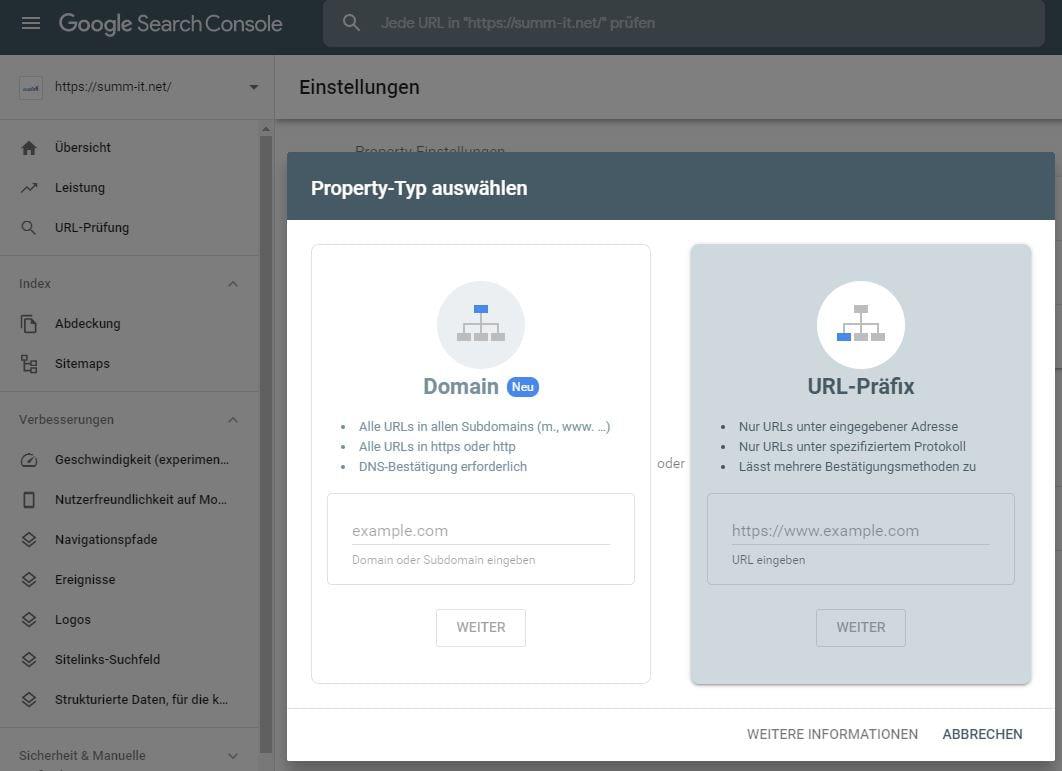 Google Search Console - WordPress SEO - summ-it Unternehmensberatung