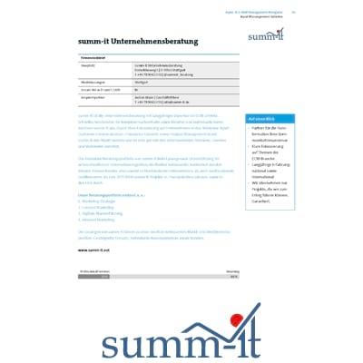 Input Management Navigator - summ-it Unternehmensberatung