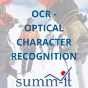 OCR - Optical Character Recognition - summ-it Unternehmensberatung – B2B-Marketing & Business Development