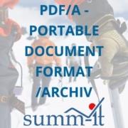 PDF/A - Portable Document Format /Archiv - summ-it Unternehmensberatung – B2B-Marketing & Business Development