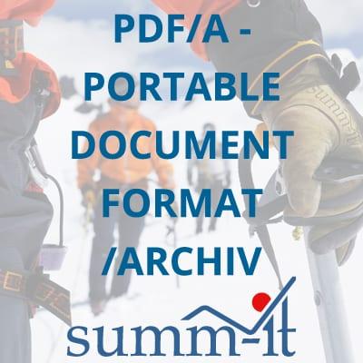 PDF/A Portable Document Format Archive