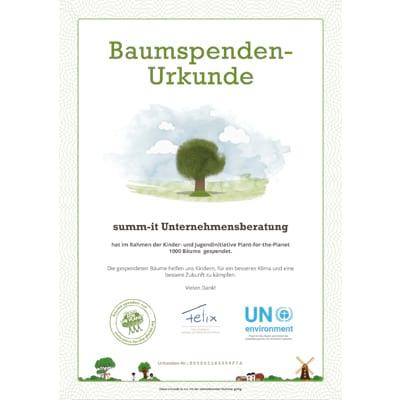 Bäume pflanzen, Klimawandel stoppen, Plant for the Planet unterstützen - Jochen Maier, summ-it Unternehmensberatung