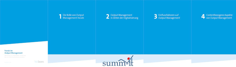 Trends im Output Management - summ-it Unternehmensberatung