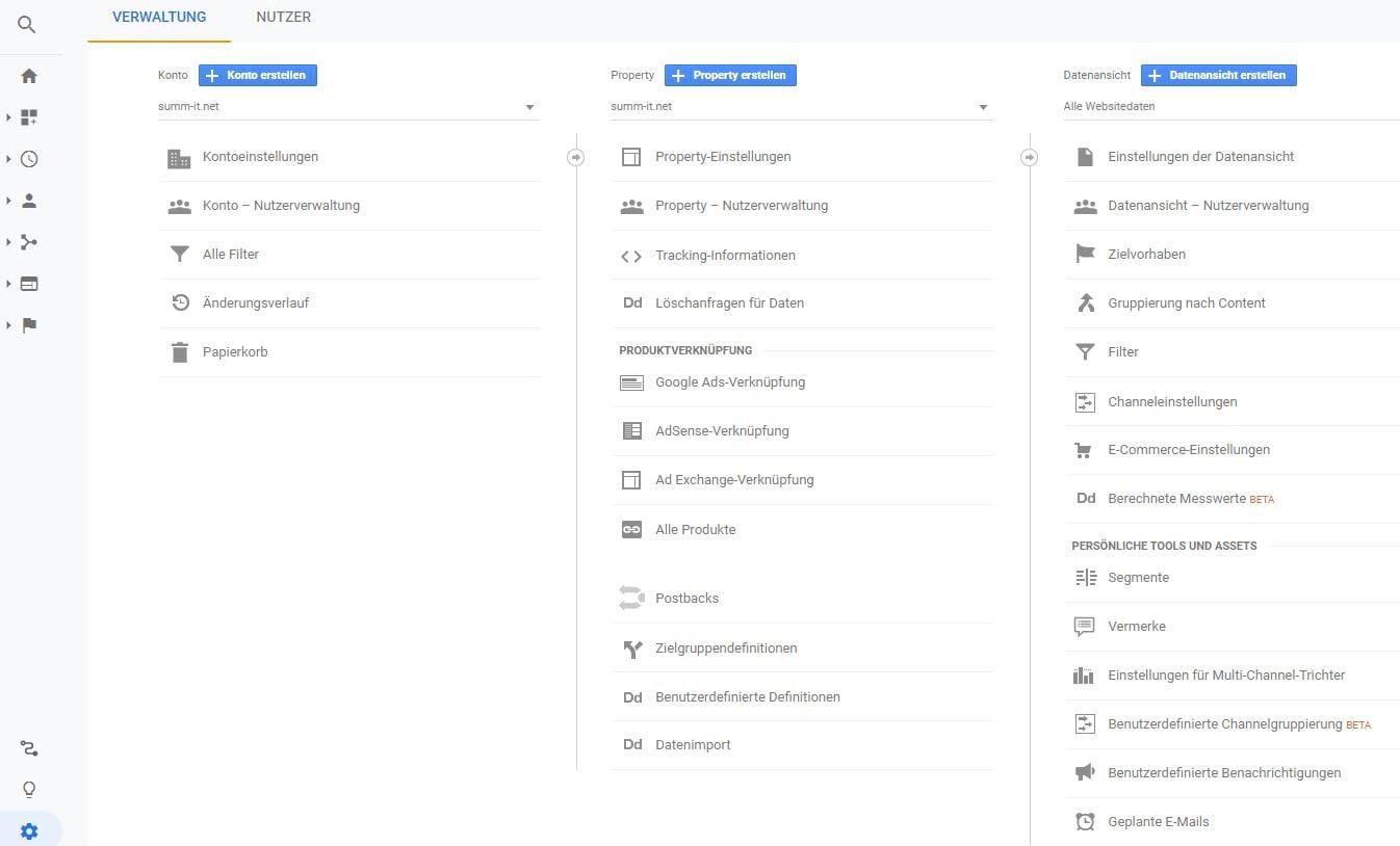 Google Analytics - WordPress SEO Search Engine Optimization - summ-it Unternehmensberatung