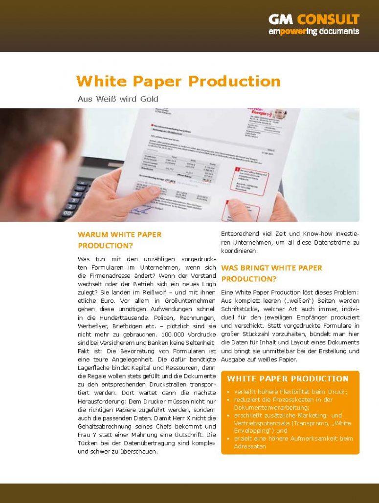 White Paper Production mit summ-it Unternehmensberatung