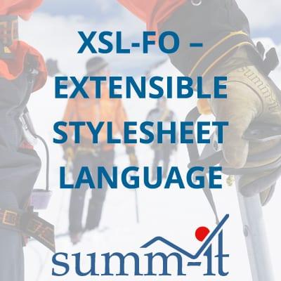 XSL-FO Extensible Stylesheet Language Formatting Objects - summ-it Unternehmensberatung – B2B-Marketing & Business Development